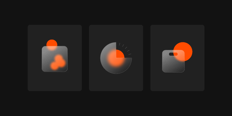 glassmorphism icons Figma