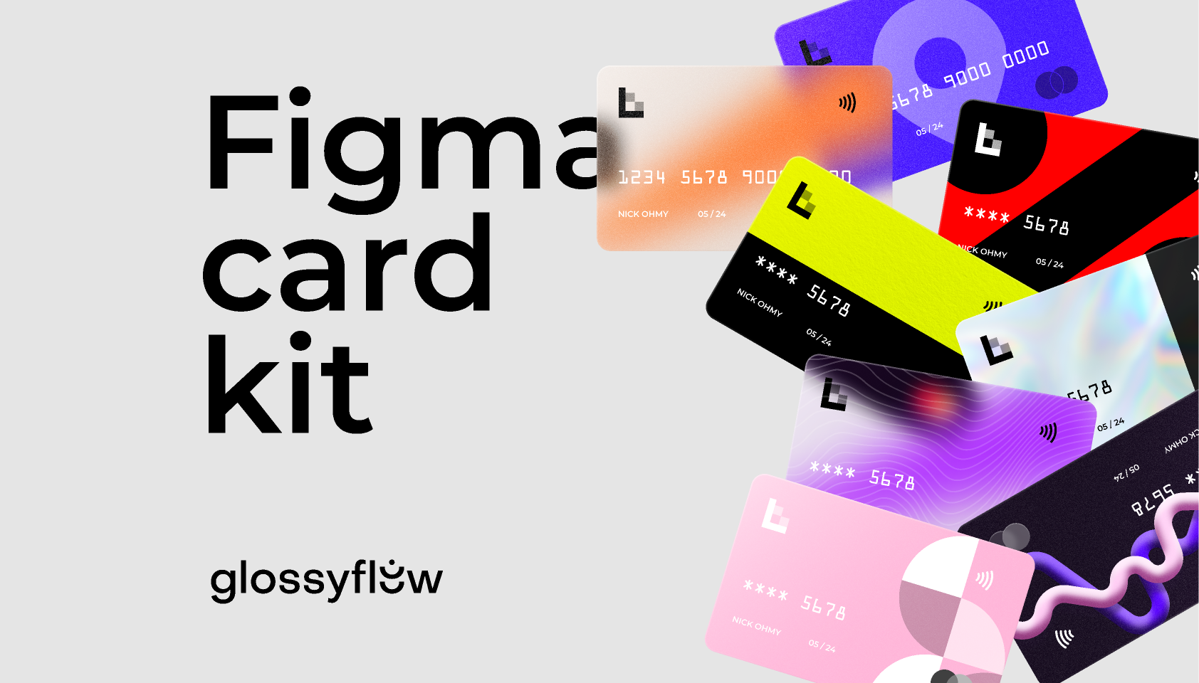 Glossy Bank Card Kit Figma Template