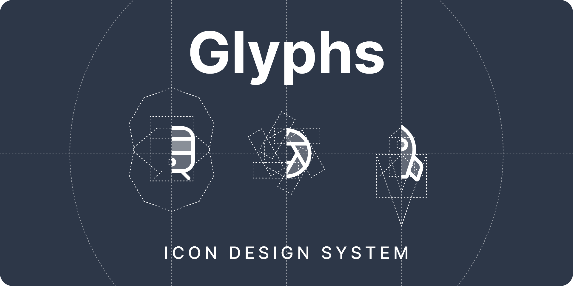 Glyphs Icons design system (Figma)