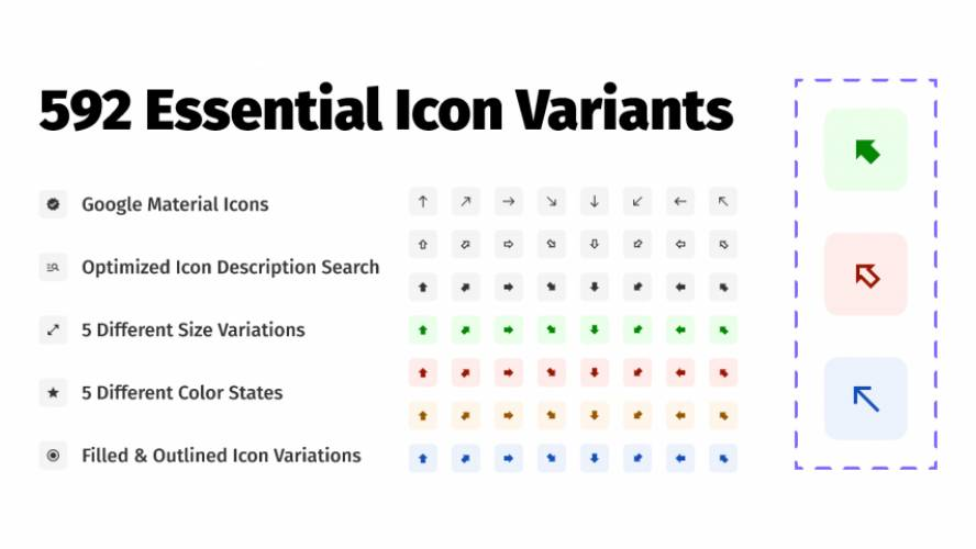 Google Material Icon Variants Figma Template