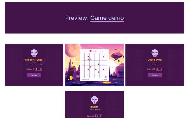 Greedy Hunter figma game template