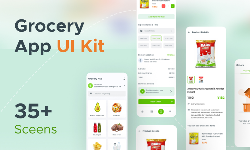 Grocery Plus - Grocery App UI Kit Figma