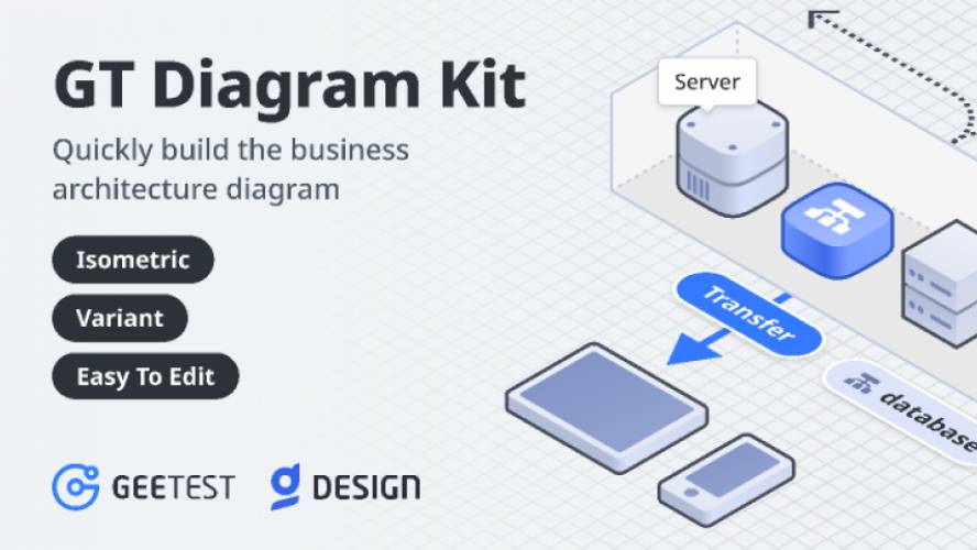 GT Diagram Kit-Isometric Style Figma Template