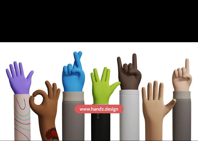 HANDZ - A 3D illustration library