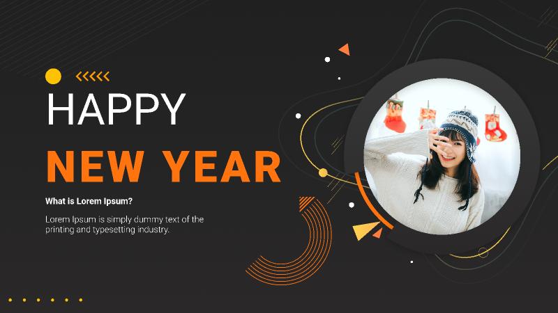 Happy new year figma templates