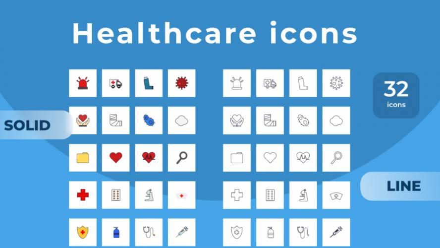 Healthcare icon set Figma Free