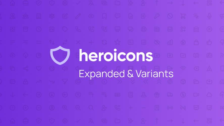 HeroIcons (Expanded icons) - With variants Figma Template