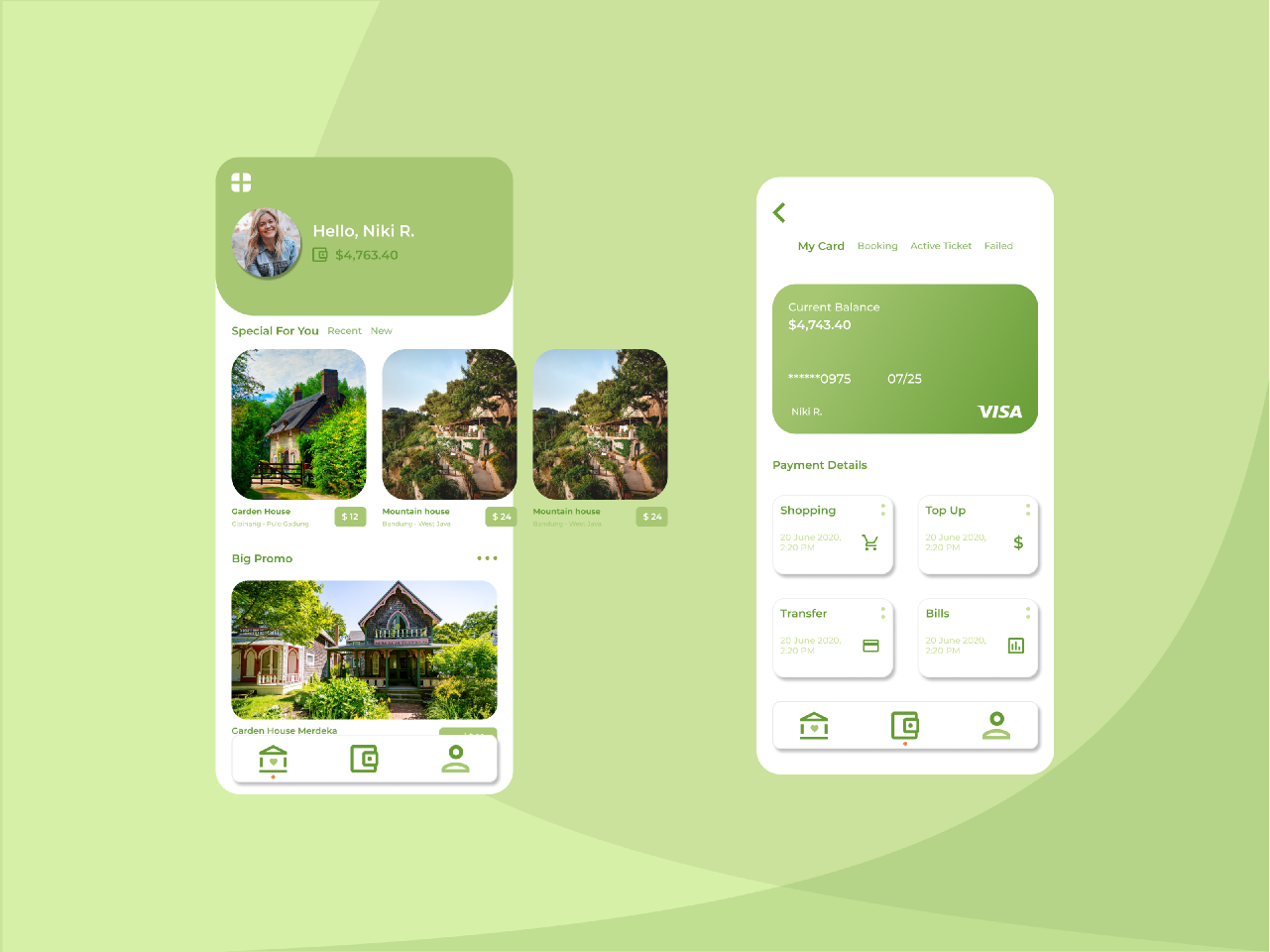 Home Garden Rental Application figma mobile template