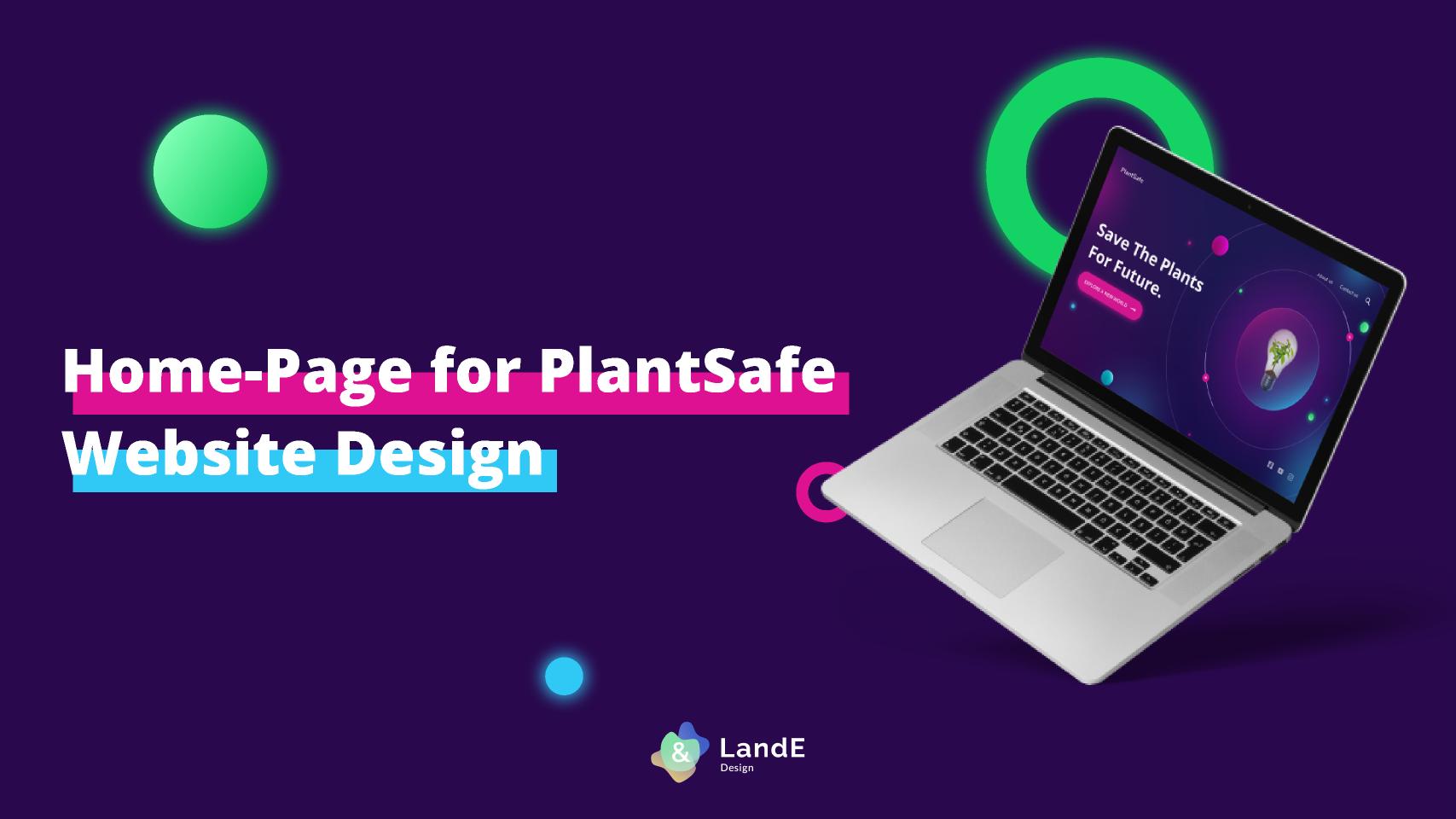 Home-Page for Plantsafe figma free