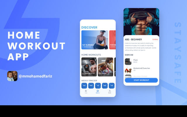 Home Workout App - Freebie Figma