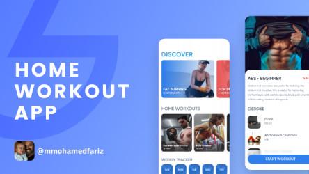 Home Workout App - Freebie Figma