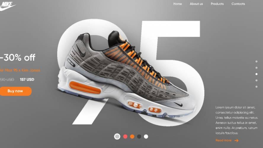 Homepage Nike figma