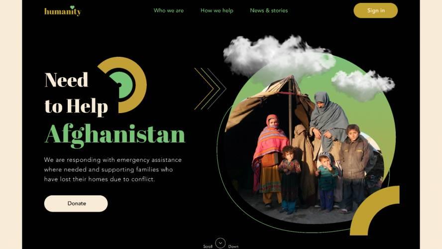 Humanity Web Landing Page figma free