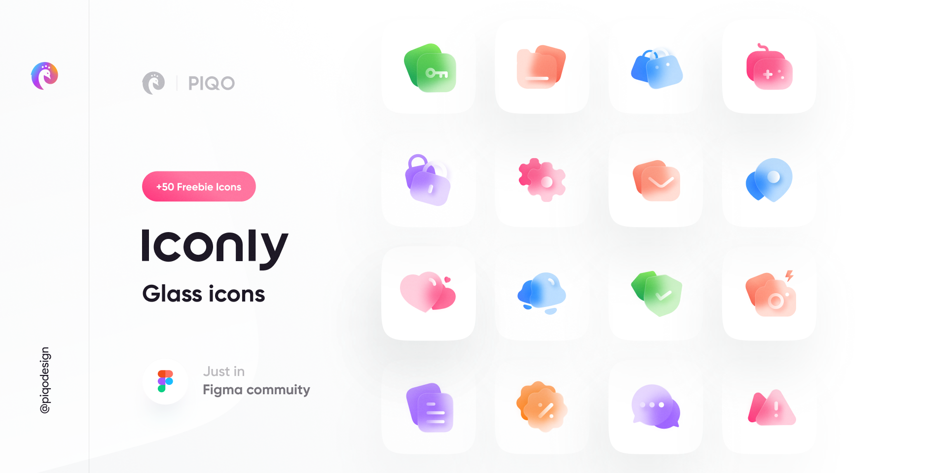 Iconly 2 - Glass Icons figma