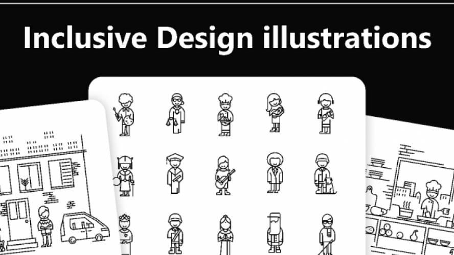 Inclusive Design illustrations figma