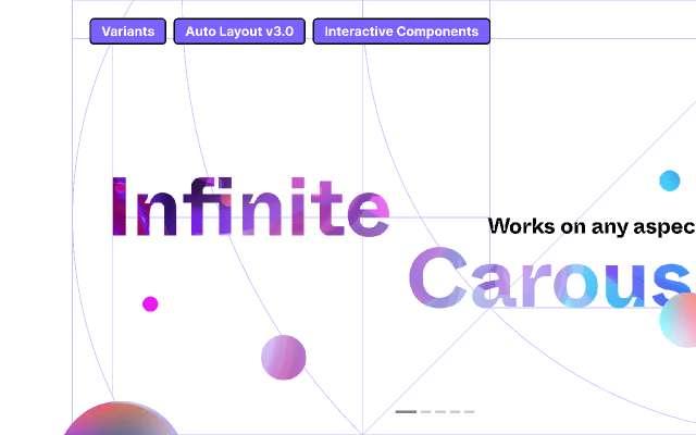 Infinite Carousel(Interactive Component) figma