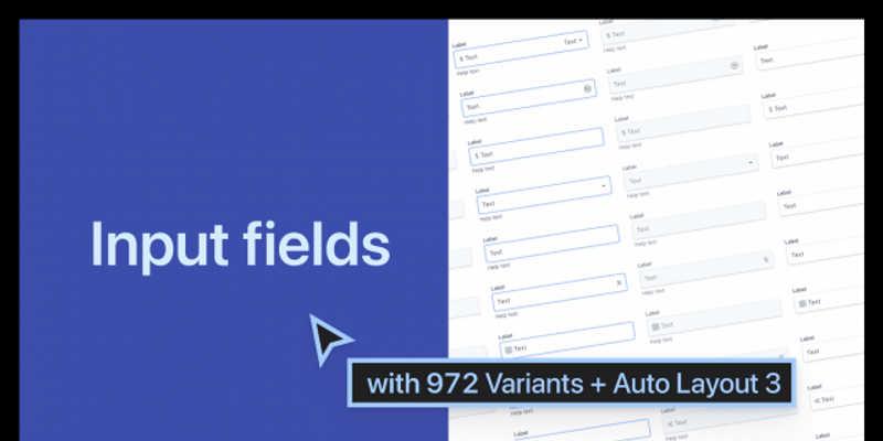 Input Field Variants Figma template