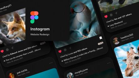 Instagram - Dark design figma