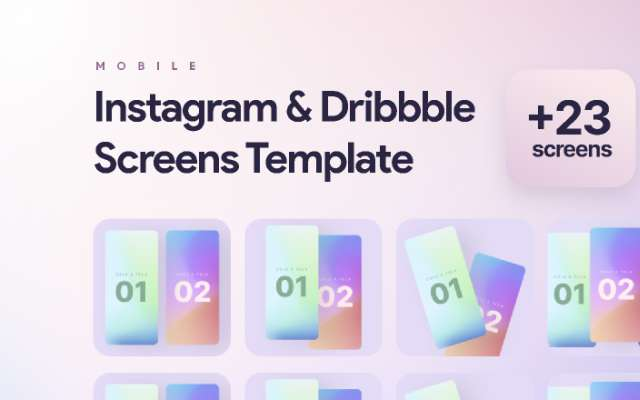 Instagram & Dribbble Screens Templates figma