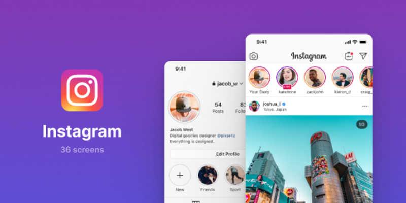 Instagram UI Screens