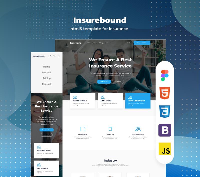 insurance agency free download figma