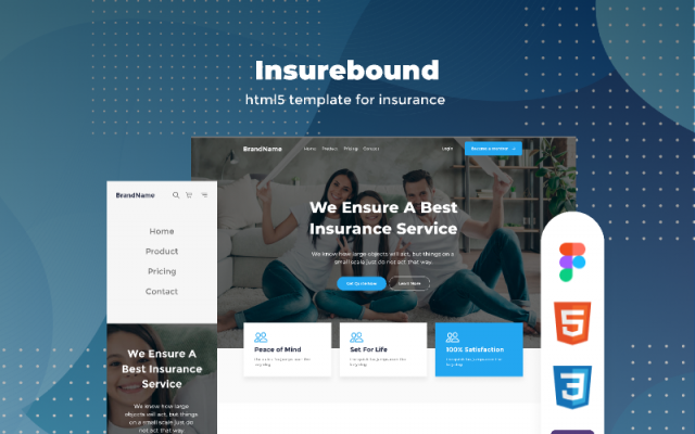 insurance agency free download figma