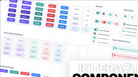Interactive UI components figma free