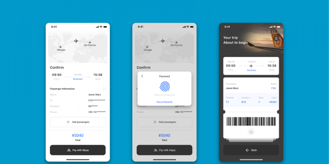 Interface/booking ticket/exercise figma free