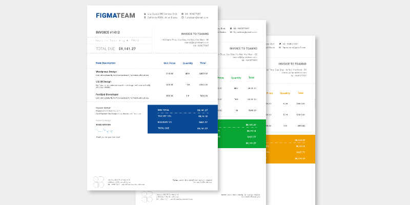 Free Invoice template 2