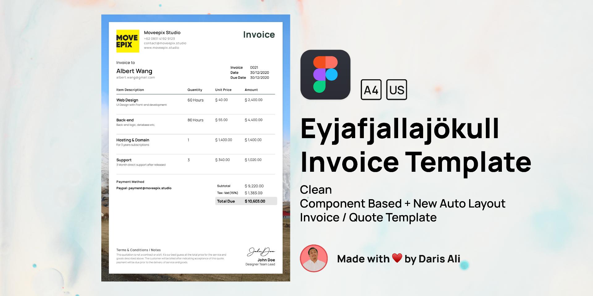 Invoice Template Figma free