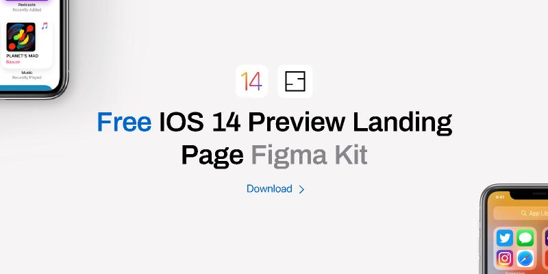 iOS 14 Preview Landing Page Figma