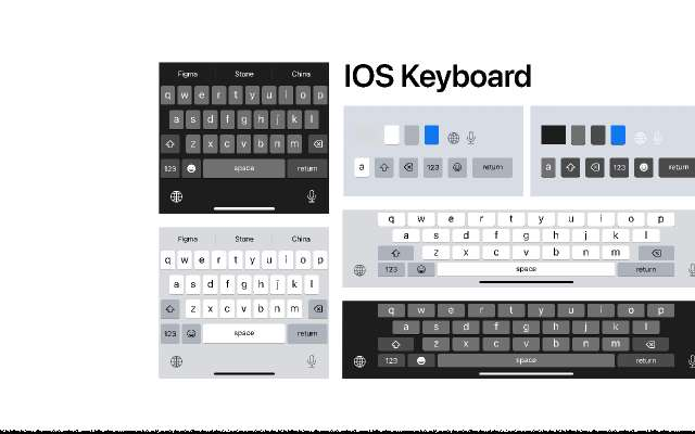 IOS Keyboard figma free