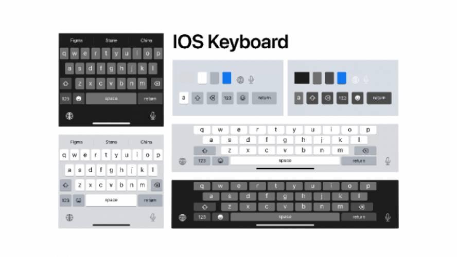 IOS Keyboard figma free