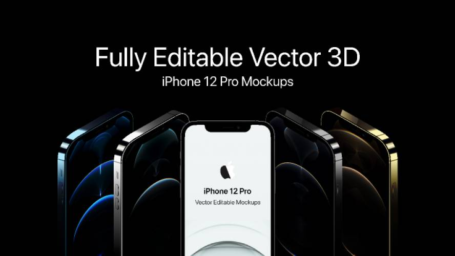 iPhone 12 3D Mockups (Figma)