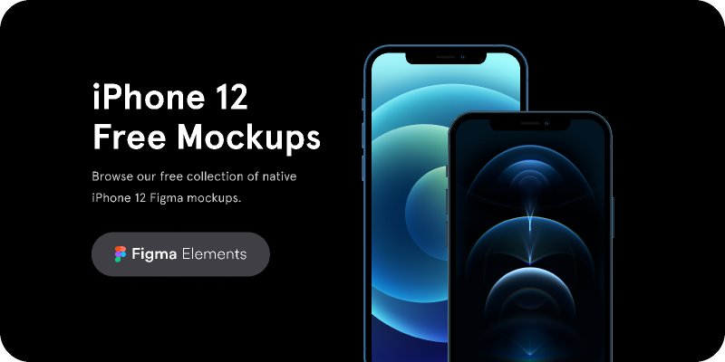 iPhone 12 Free Mockups Figma Elements