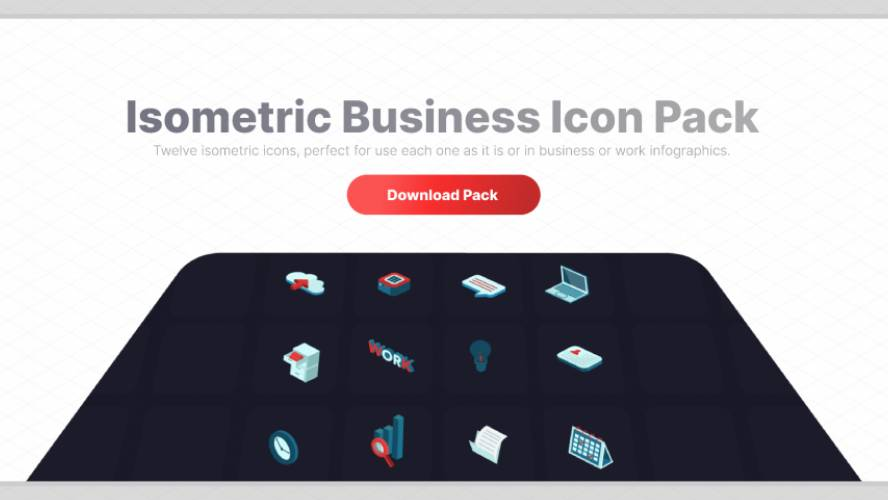 Isometric Business Icon Pack Figma Template