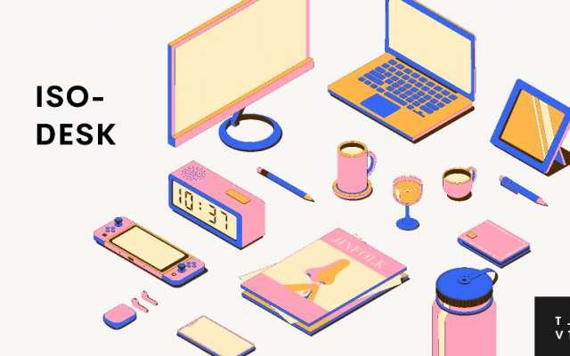 Isometric Desk Figma