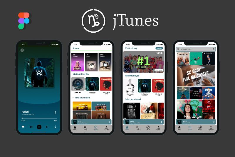 jTunes music app Figma