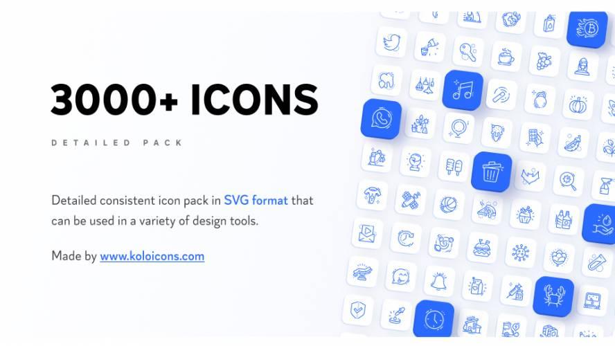 [Koloicons] Free Download 3000+ Icons Figma Template