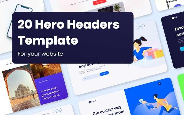 Kreed - 20 Hero Headers Figma Template
