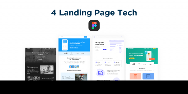 landing page for tech agency Figma templates