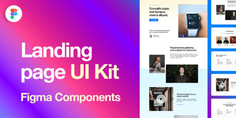 Landing page UI Kit + Components