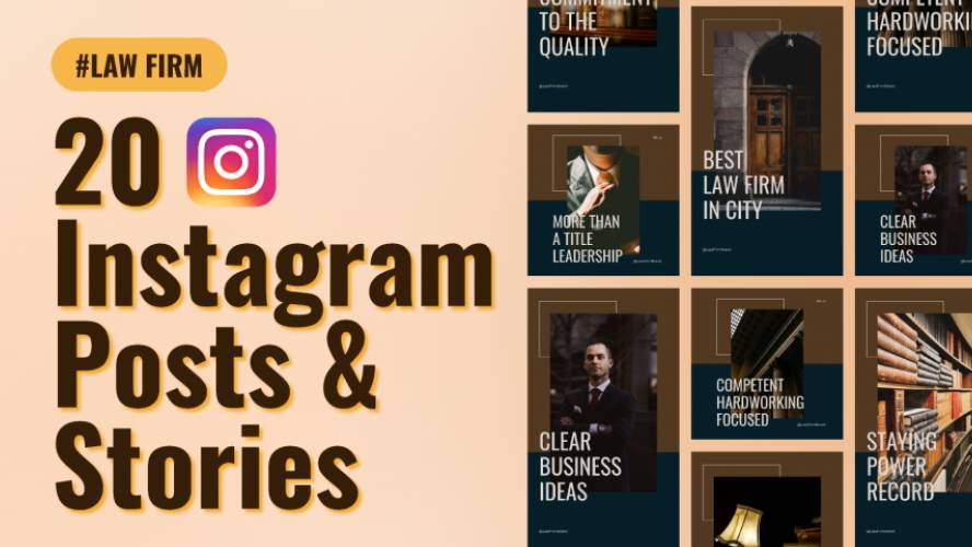 Law Firm Instagram Post & Story Figma Template