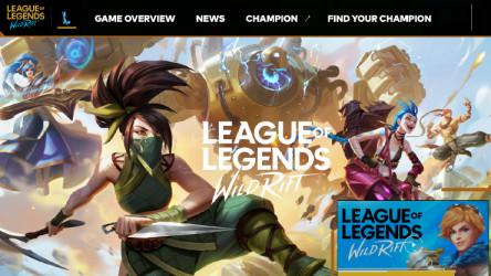 League of legends website figma template