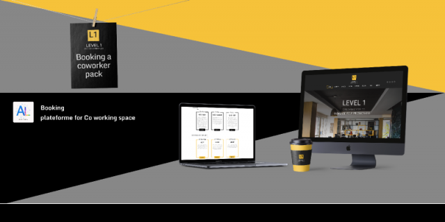 LEVEL 1 booking a co working pack Figma templates