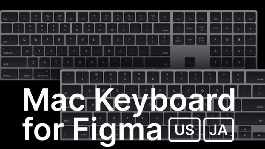 Mac Keyboard Mockup for Figma free