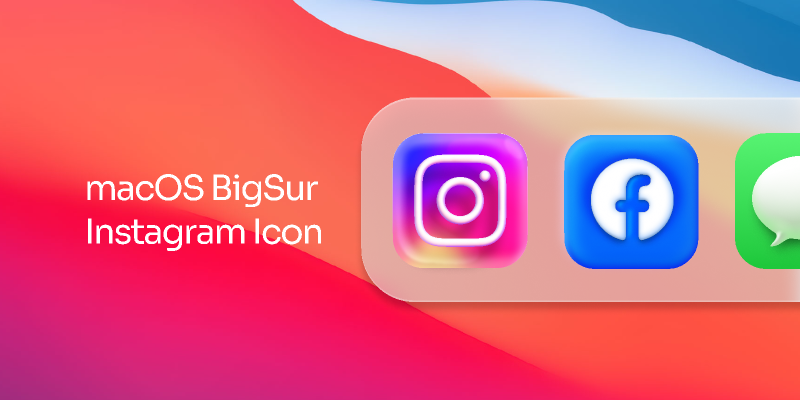 macOS BigSur Inspired Instagram Icon figma