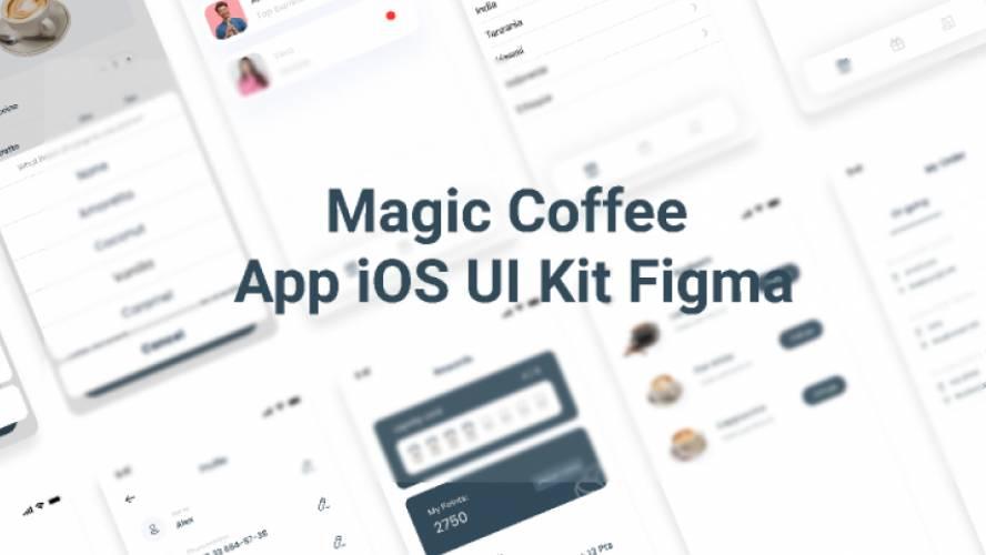 Magic Coffee App iOS UI Kit Figma