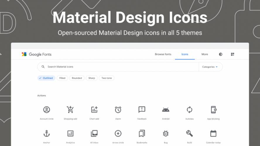 Material Design Icons Figma Template