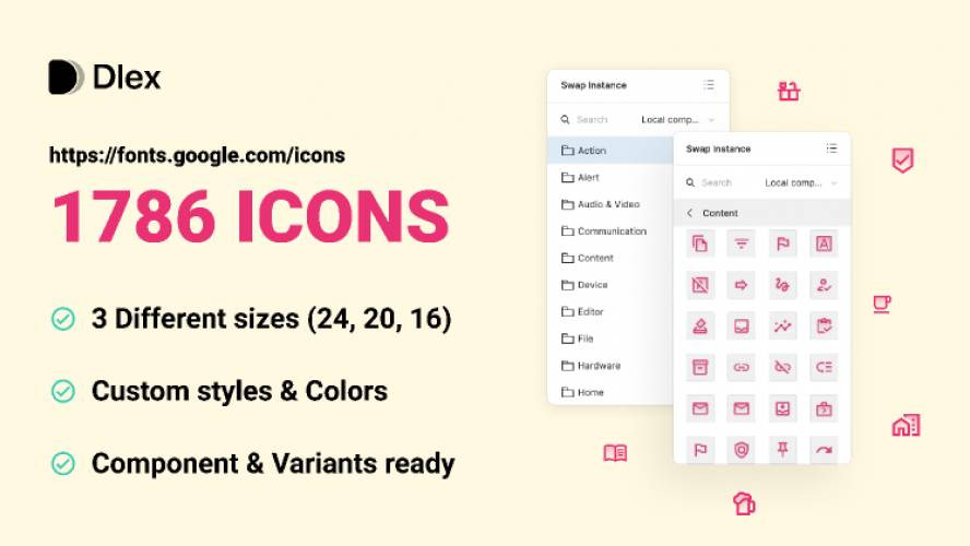 Material Icons Figma Design free